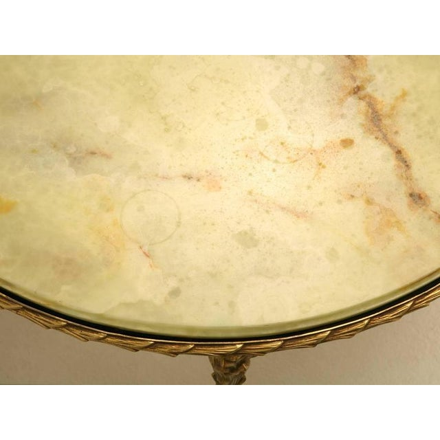 Maison Bagues Bronze Coffee Table With Onyx Top For Sale In Chicago - Image 6 of 10