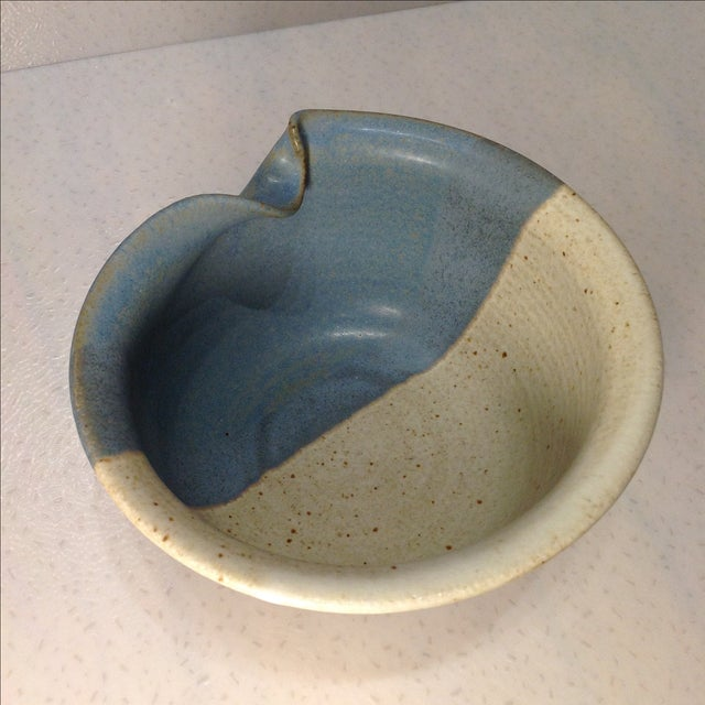 Vintage Handmade Pinched Bowl - Image 5 of 7