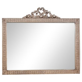 French Ribbon Crest Mirror For Sale