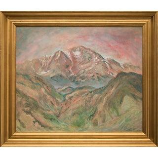 """Memorial Day, Pikes Peak Colorado"" Original Painting by Verna Jean Versa For Sale"