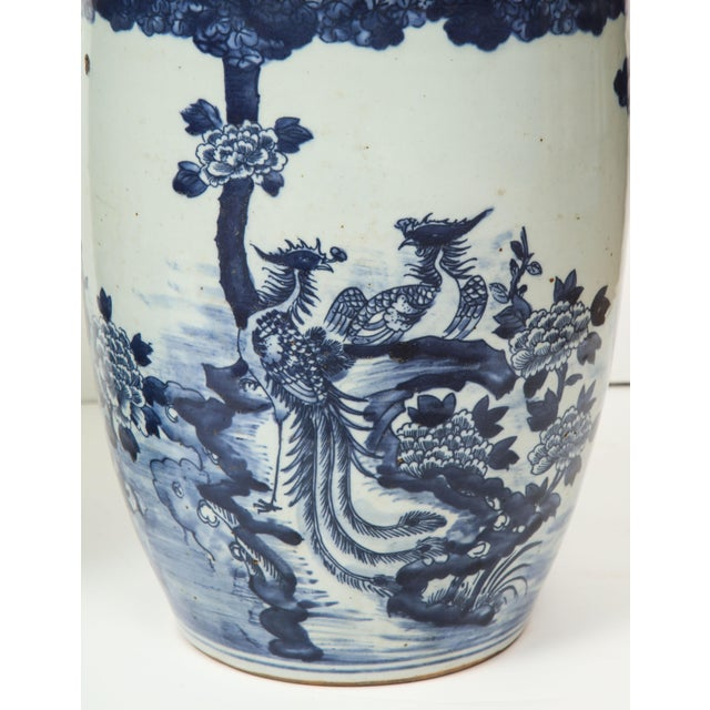 Chinese Blue and White Planters - A Pair For Sale - Image 9 of 13