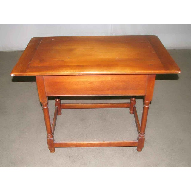 Vintage Maple Desk Table For Sale - Image 5 of 7
