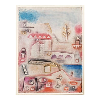 "1958 Paul Klee, Vintage English ""Place of Discovery"" Lithograph For Sale"