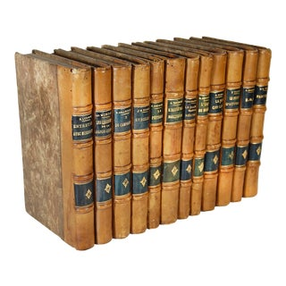 Antique French Books Set - Set of 12 For Sale