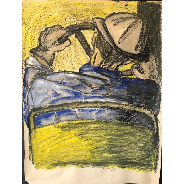 1960s Bay Area Art Oversized Gouache and Oil Pastel For Sale In New York - Image 6 of 6