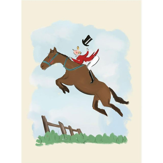 """""""The Equestrian"""" Limited Edition Print on Etching Paper by Tug Rice 2020 For Sale"""
