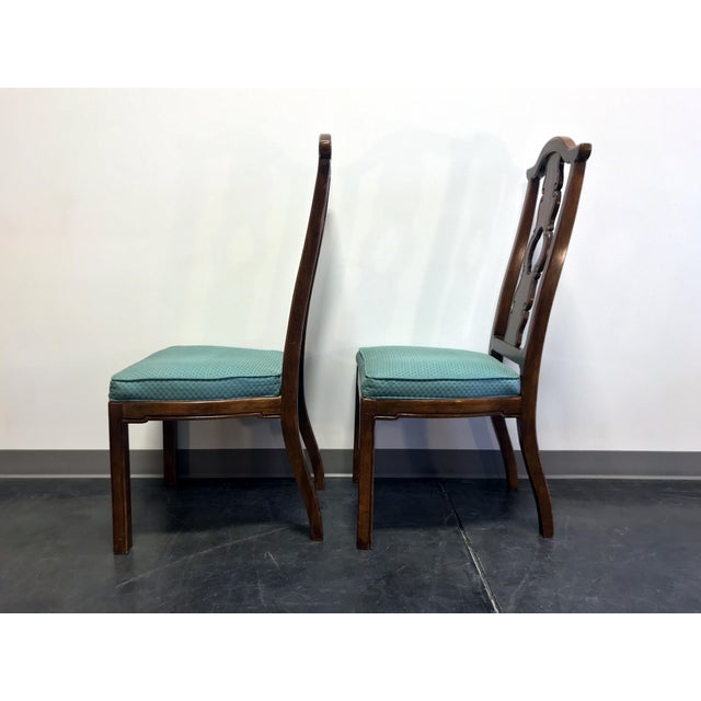 THOMASVILLE Mystique Asian Chinoiserie Dining Side Chairs - Pair 2 For Sale In Charlotte - Image 6 of 13