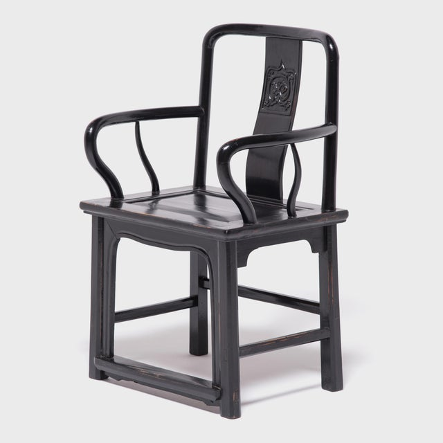 Asian Chinese Black Guanmaoyi Chair For Sale - Image 3 of 8