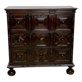 Charles II Paneled Chest of Drawers For Sale