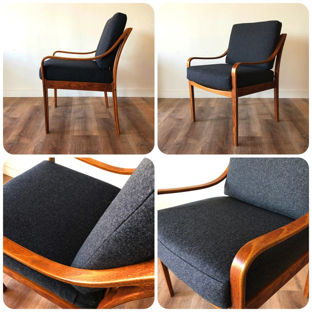 Danish Mid-Century Modern Side Chair by j.m. Birking For Sale - Image 12 of 13