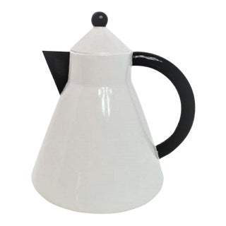 Artwerk Germany White & Black Teapot For Sale