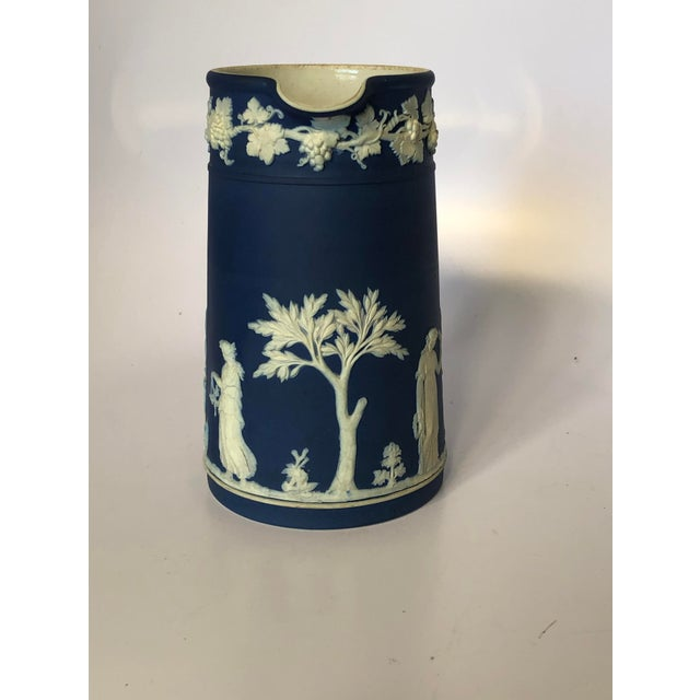 Figurative Antique Wedgwood Jasperware Pitcher For Sale - Image 3 of 9