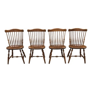 Vintage Mid Century S. Bent & Bros. Windsor Chairs - Set of 4 For Sale