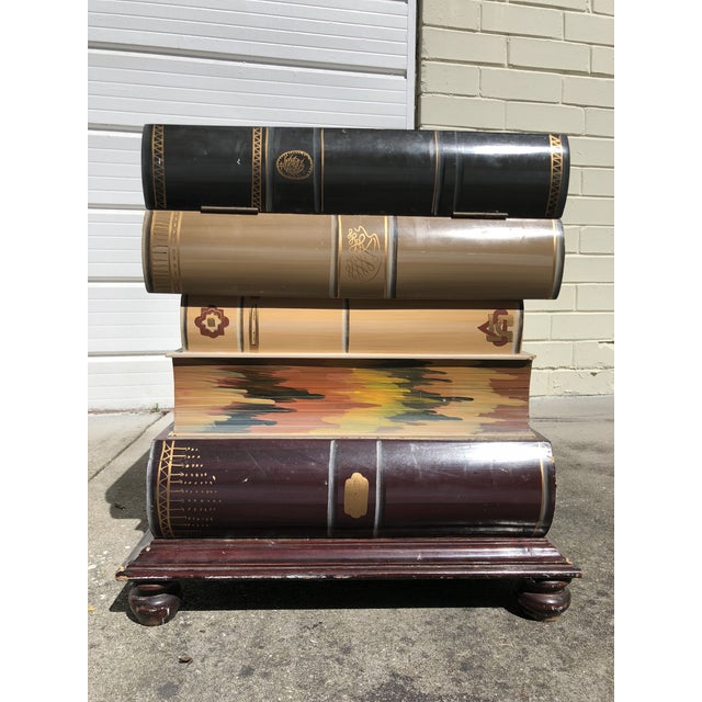 Stacked Book Accent Table For Sale - Image 10 of 10