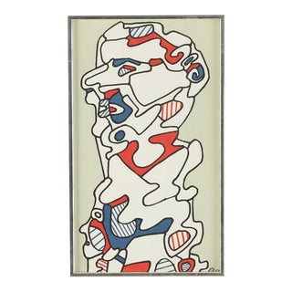 1960s Vintage Framed Jean Dubuffet Poster For Sale