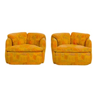 """Alberto Rosselli for Saporiti Armchairs Part of the """"Confidential"""" Living Room Set 1970s - a Pair For Sale"""