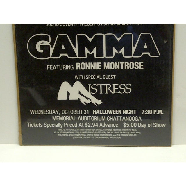 'Ronnie Montrose: Halloween Night' Concert Poster For Sale - Image 4 of 4