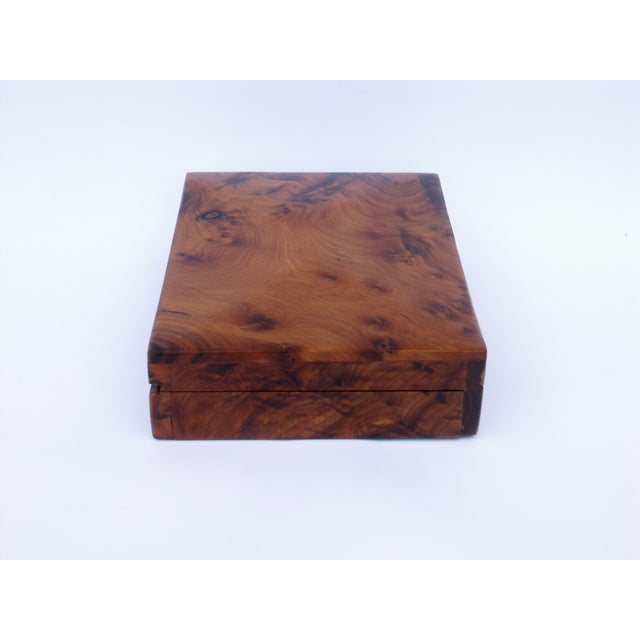 Decorative Juniper Burl Wood Box - Image 7 of 8