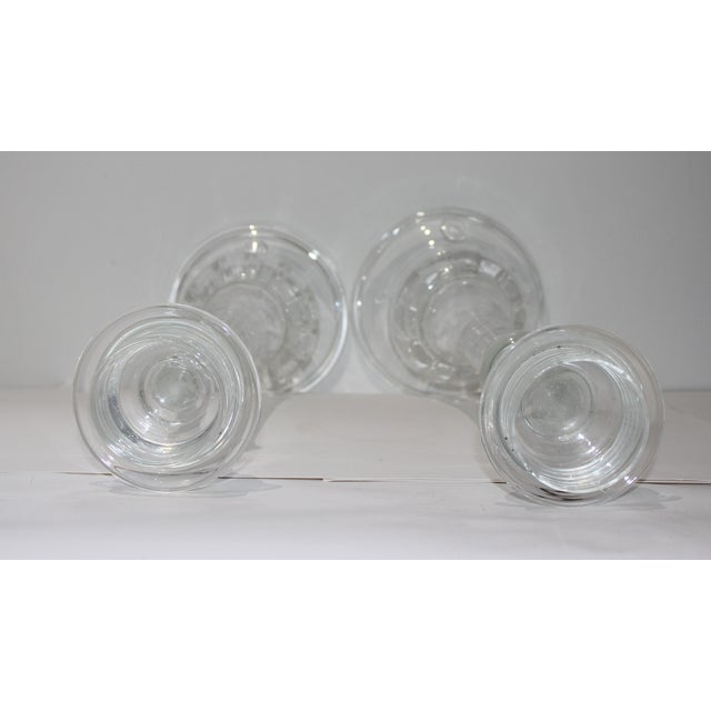 Vintage Blenko Glass Candle Holders - a Set of 2 For Sale - Image 12 of 13