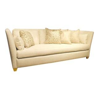 Custom Contemporary Knole Sofa with Giltwood Finials