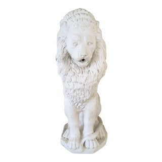 Decorative White Stone Lion Fountain For Sale