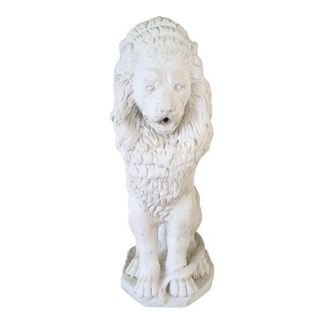 Decorative White Stone Lion Fountain For Sale