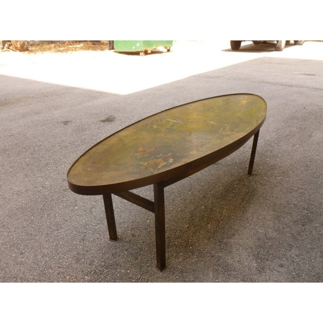 Bronze 1960's Vintage Philip and Kelvin Laverne Chinese Design Bronze Coffee Table For Sale - Image 7 of 13