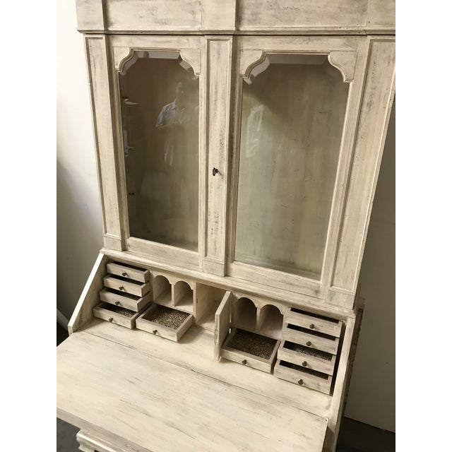 American American Classical Secretary Desk With Hutch For Sale - Image 3 of 7