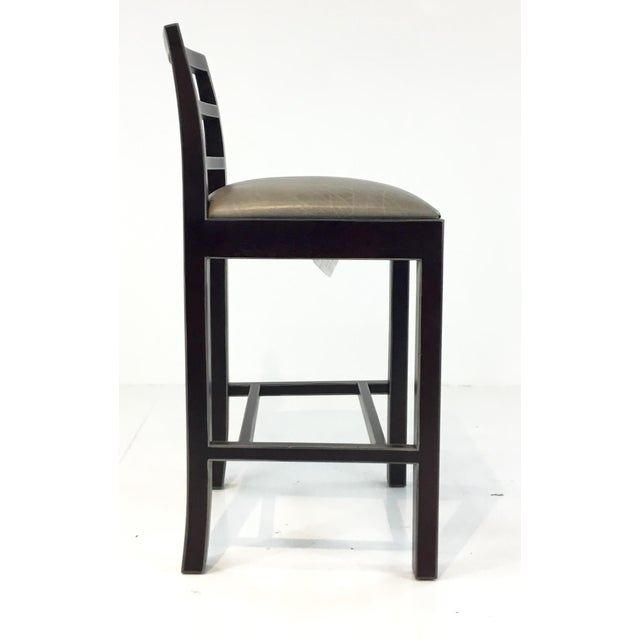 Fabulous Hickory Chair Gray Leather Dara Counter Stools Pair Alphanode Cool Chair Designs And Ideas Alphanodeonline