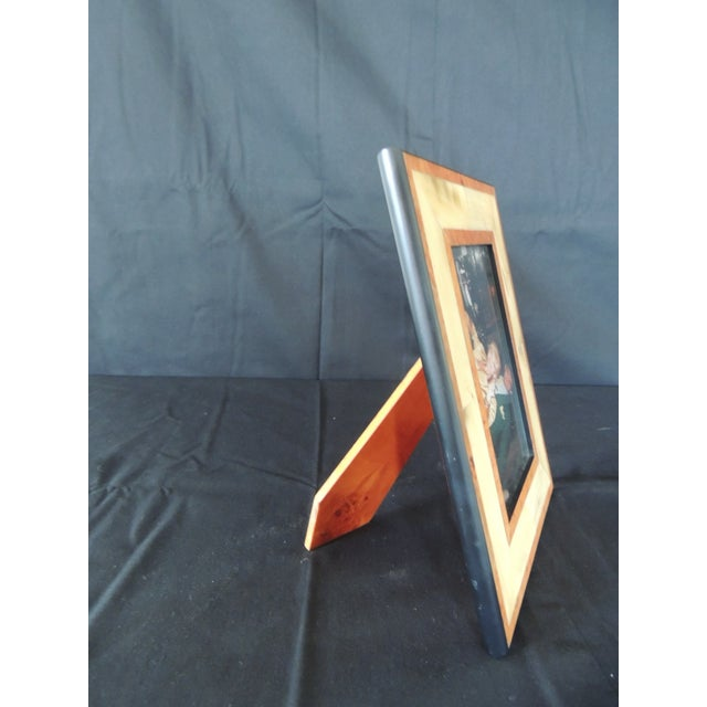 1980s Authentic Gucci Inlaid Wood Picture Frame For Sale - Image 5 of 6