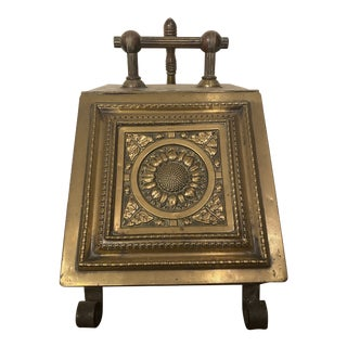 Antique Brass Adam Style Coal Hod For Sale