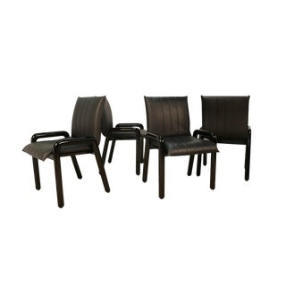 """Four Guido Faleschini Italian """"Dilos"""" Dining Chairs by I4 Mariani for Pace For Sale"""