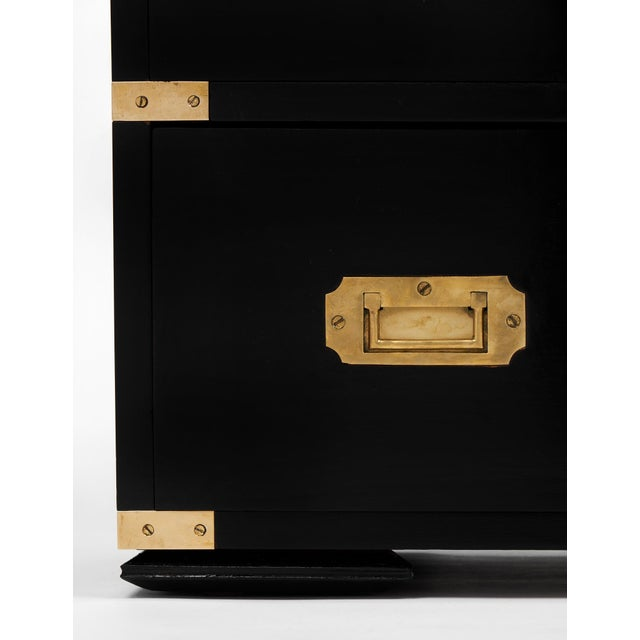 English Campaign Style Secretary Chest - Image 11 of 11