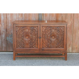 Mandala Lotus Carved Cabinet Preview