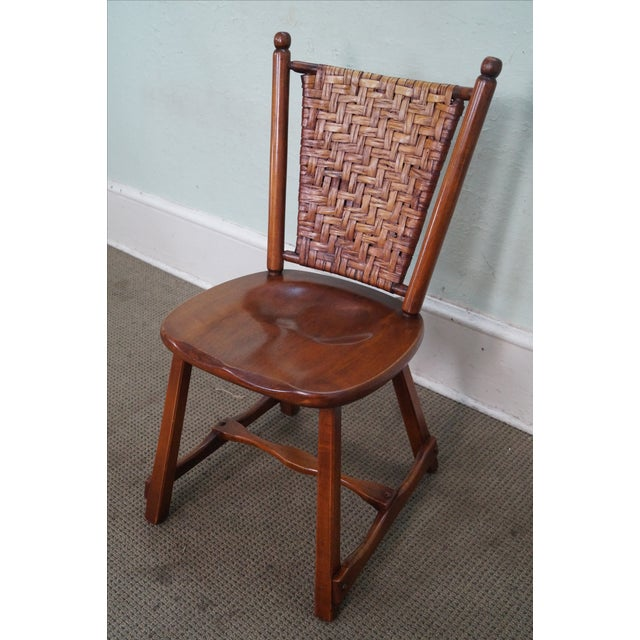 Cottage Old Hickory Signed Vintage Woven Splint Back Dining Chairs - Set of 4 For Sale - Image 3 of 10