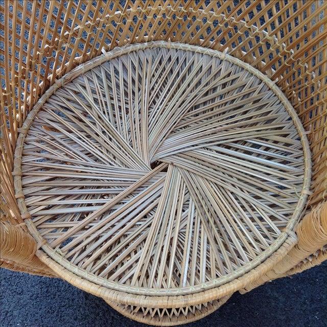 Vintage Rattan Peacock Chair - Image 7 of 9