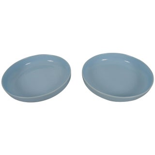 Large-Scale Porcelain Pale Blue Chargers - a Pair For Sale