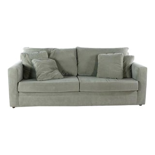 Modern Room & Board 'Orson' Contemporary Gray Upholstered Sofa For Sale
