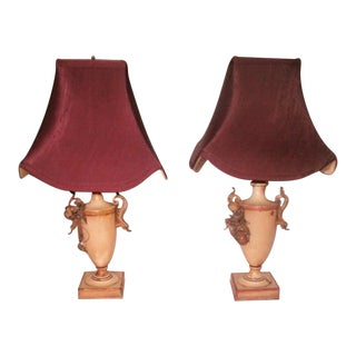 French Vanity Lamps - A Pair
