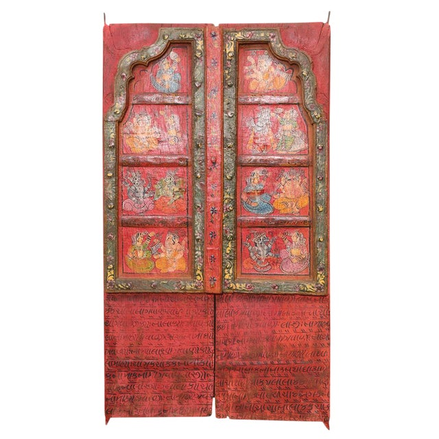 Folk Painted Mandawa Door - Image 1 of 4