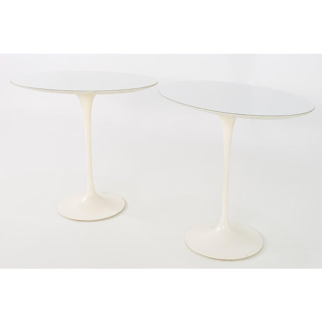 Mid-Century Modern 1960s Mid Century Modern Eero Saarinen for Knoll Oval Tulip Side Tables - a Pair For Sale - Image 3 of 9
