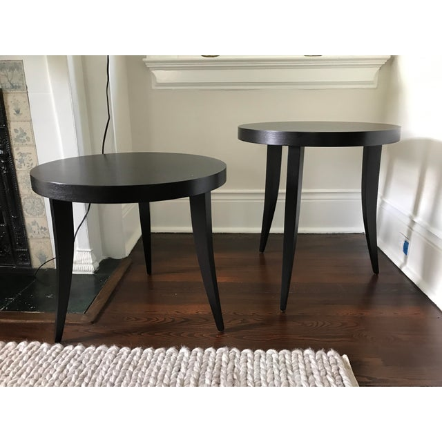Transitional Tommy Pedestal Nesting Tables - a Pair For Sale - Image 4 of 9