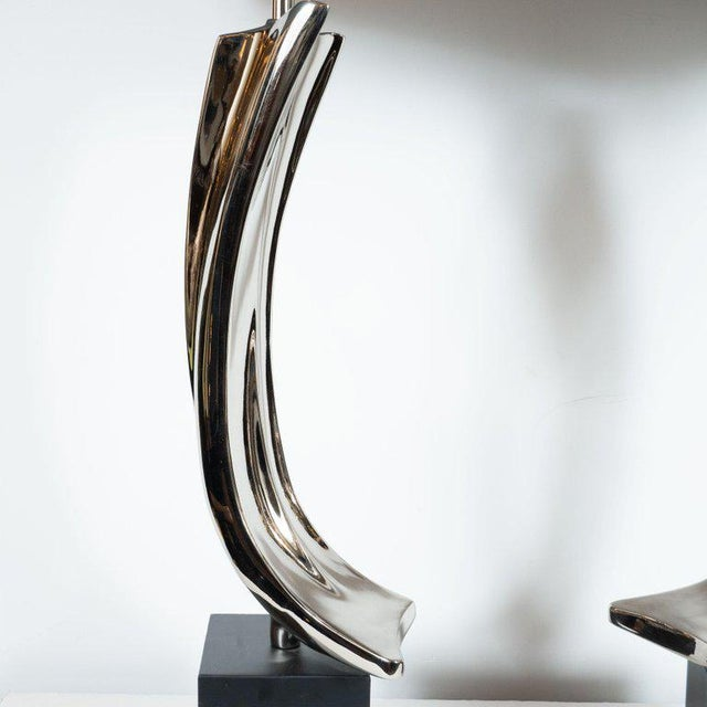 1970s Mid-Century Maurizio Tempestini Brutalist Table Lamps for Laurel Lamp Co. - a Pair For Sale - Image 5 of 8