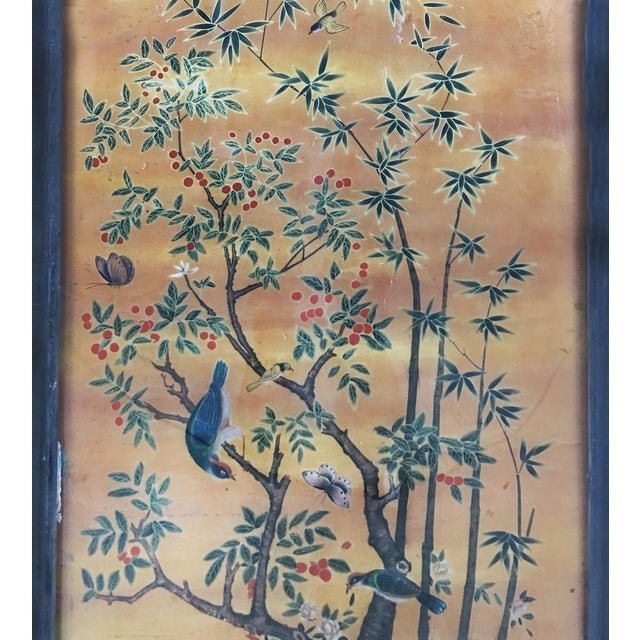 Chinese Scroll Painting Panel in Original Frame For Sale - Image 4 of 5