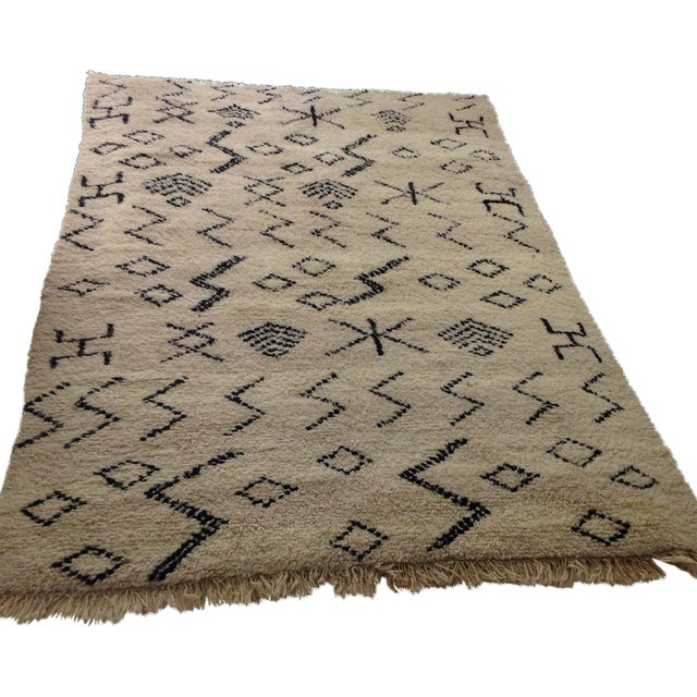 "Authentic Moroccan Beni Ourain Rug - 6'5"" X 9'3"" - Image 1 of 5"