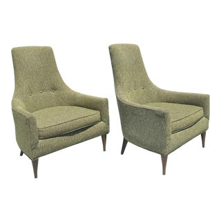 Adrian Pearsall Hight Back Chairs a Pair For Sale