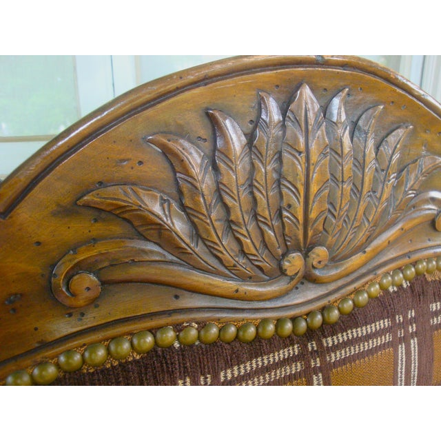French Country Vintage Carved French Country Armchairs - a Pair For Sale - Image 3 of 10