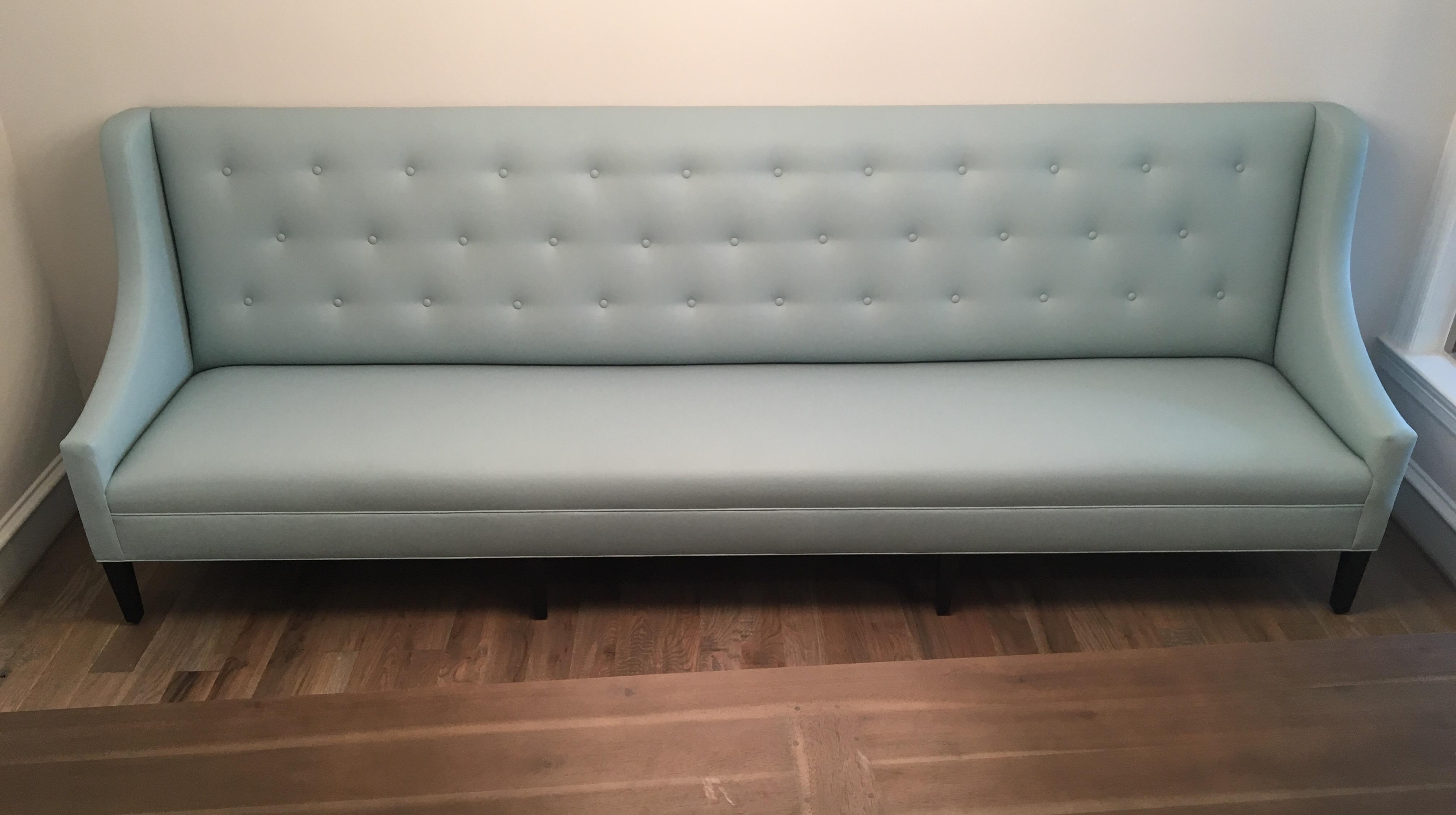 Faux Leather Dining Banquette Bench   Image 2 Of 5