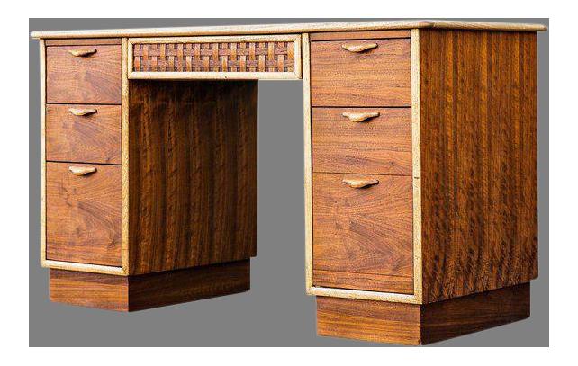 Vintage Mid Century Lane Furniture Perception Partner Desk For Sale