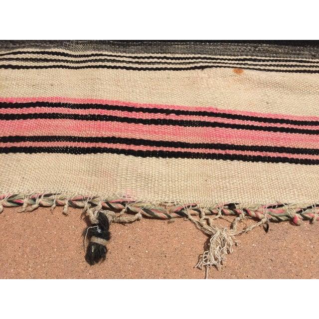 Vintage Moroccan Flat-Weave Stripe Tribal Rug For Sale In Los Angeles - Image 6 of 10